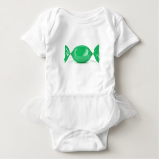 Green wrapped hard candy baby bodysuit