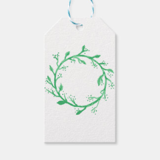 Green Wreath Christmas Wrapping Gift Tags