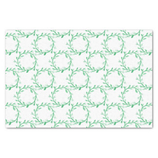 Green Wreath Christmas Wrapping Tissue Paper