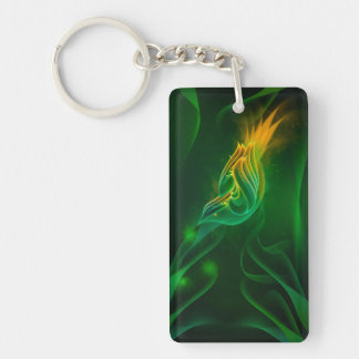 Green Wren Keychain