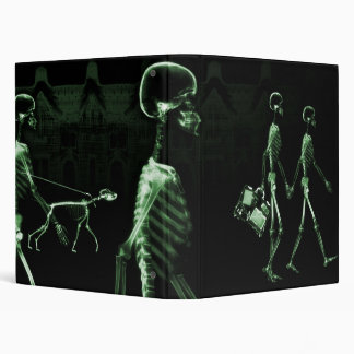 Green X-Ray Skeletons Midnight Stroll Binder