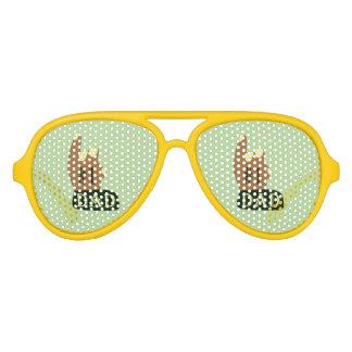 Green Yellow #1 Dad Aviator Sunglasses