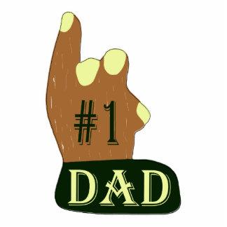 Green Yellow #1 Dad Photo Sculpture Keychain