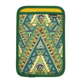 Green yellow boho ethnic pattern iPad mini sleeve