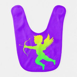 Green Yellow Boy Angel Purple Baby Bib
