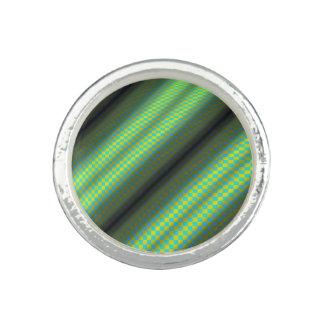 Green & Yellow Checkered Tubes Rings