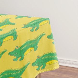 Green Yellow Gator Alligator Croc Crocodile Animal Tablecloth