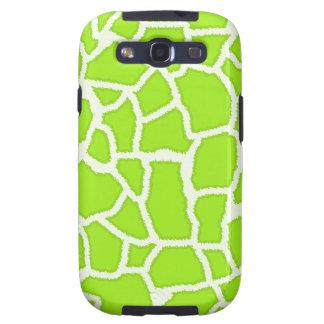 Green-Yellow Giraffe Animal Print Galaxy SIII Cover