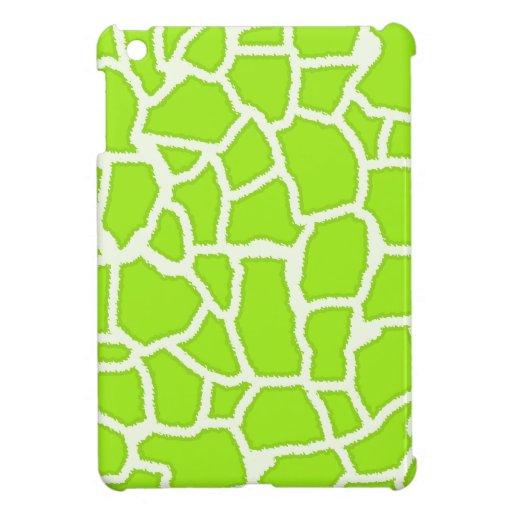 Green-Yellow Giraffe Animal Print Case For The iPad Mini