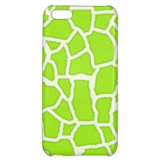 Green-Yellow Giraffe Animal Print iPhone 5C Case