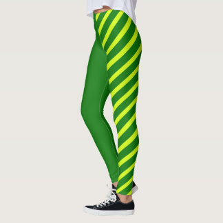 Green & Yellow Jester Leggings