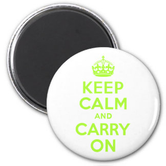Green Yellow Keep Calm and Carry On Magnet
