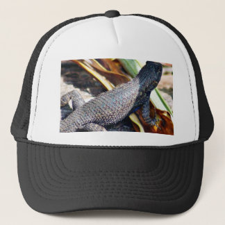Green Yellow Lizard Trucker Hat