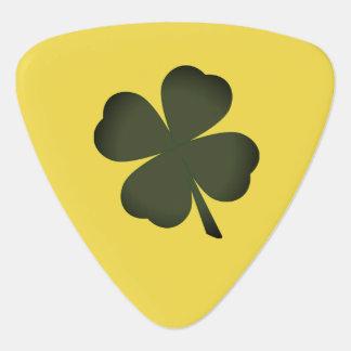 Green Yellow Lucky Charm Shamrock St Patrick's Day Guitar Pick