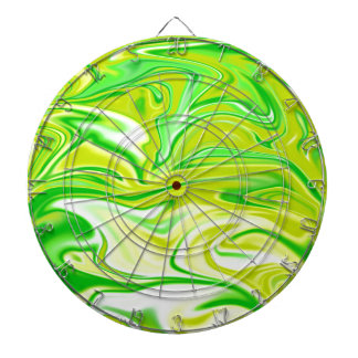 Green_Yellow Marbleized Spring,_ Dartboard