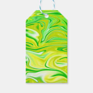 Green Yellow Marbleized Spring,_ Gift Tags