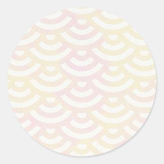 Green Yellow Mermaid Pastel Classic Round Sticker