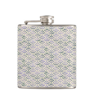Green Yellow Mermaid Pastel Hip Flask