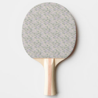 Green Yellow Mermaid Pastel Ping Pong Paddle