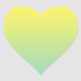 Green & Yellow Ombre Heart Sticker