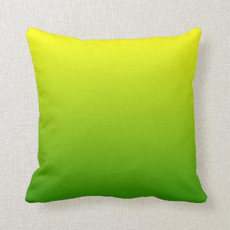 Green Yellow Ombre Throw Pillow