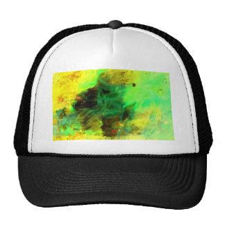 Green Yellow Original Abstract Trucker Hat