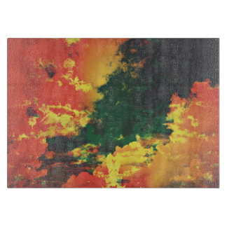 Green yellow red cloud abstract digital art design boards