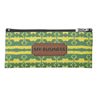Green Yellow Star Line Pencil Cases