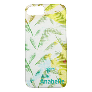 Green yellow tropical summer iphone case