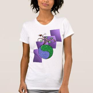 Green Yin and Yang T-Shirt