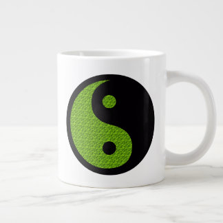 Green Yin Yang Large Coffee Mug