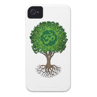 Green Yoga Om Tree of Life iPhone 4 Case