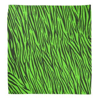 Green Zebra Animal Print Bandana