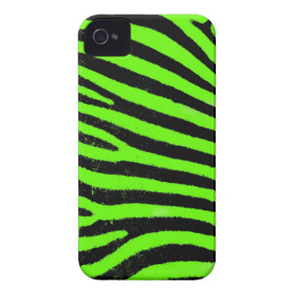 Green Zebra  Barely There™ iPhone 4 Case