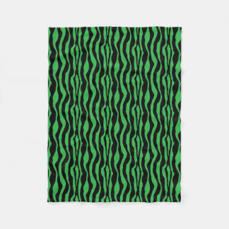 Green Zebra Print Fleece