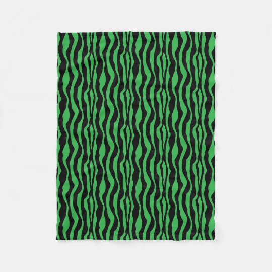 Green Zebra Print Fleece