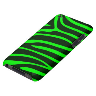 Green Zebra Print iPod Touch Case