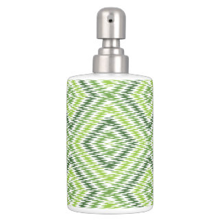 Green Zig Zag Bathroom Set