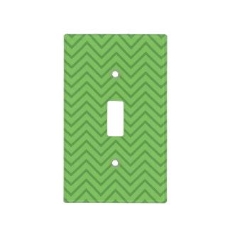 Green zig zag bold color light switch