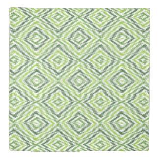 Green Zig Zag Duvet Cover