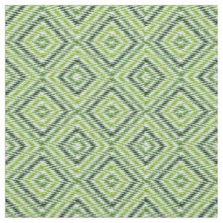Green Zig Zag Fabric