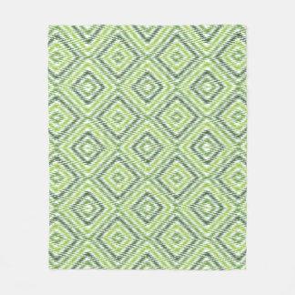 Green Zig Zag Fleece Blanket