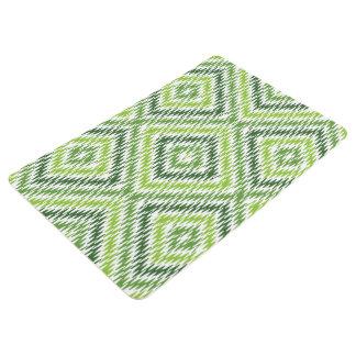 Green Zig Zag Floor Mat