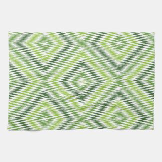 Green Zig Zag Kitchen Towel