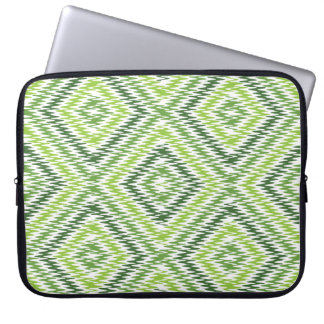 Green Zig Zag Laptop Sleeve