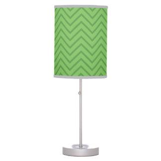 Green zig zag pattern lamp. cute pop art lamp. table lamp