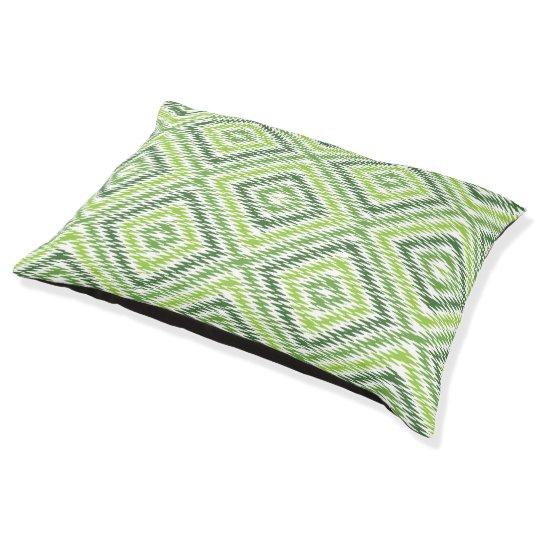 Green Zig Zag Pet Bed