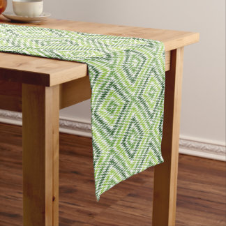 Green Zig Zag Short Table Runner