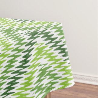 Green Zig Zag Tablecloth
