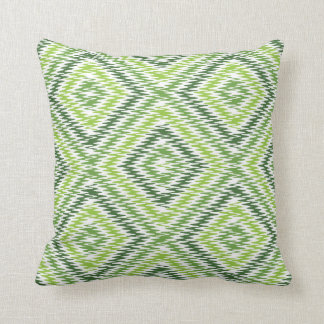 Green Zig Zag Throw Pillow